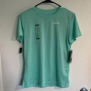 NWT Mint Green Nike Sri-fit Short Sleeve Shirt